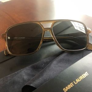 Saint Laurent 🔥 Cognac Women's Aviators PRISTINE